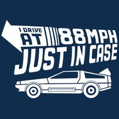 88MPH-JUST-IN-CASE-T-SHIRT-ZOOM  Back to the future movie tshirt