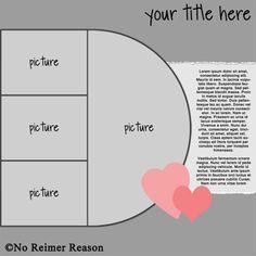 Multi-Photo Challenge - No Reimer Reason FREE Digital Scrapbook Template