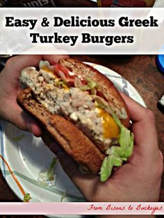 Easy & Delicious Greek Turkey Burgers with #SargentoUltraThin cheese ...
