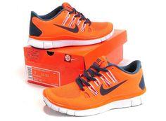 Nike Free Run Womens 5.0 + V2 Reddish Orange Running Shoes