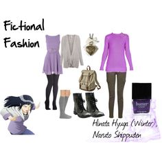 """Hinata Hyuga (Winter), Naruto Shippuden"" by fictional-fashion on Polyvore"