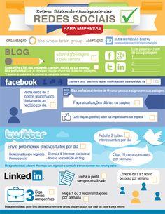 Guia básico para atualizar redes sociais de empresas.