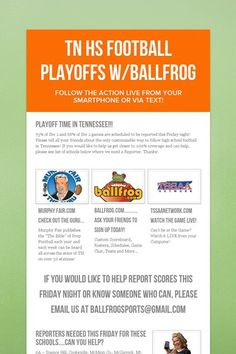 TN HS Football Playoffs w/BallFrog