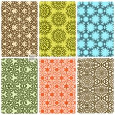 Vector Set of Seamless Pattern Designs