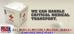 24/7 Medical Specimen Delivery Courier Services. OSHA certified HIPAA compliant. Digital chain of custody visit http://www.bocsit.com/Medical_Specimen_Delivery.html