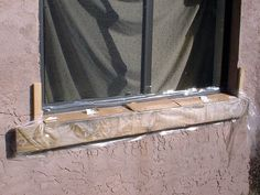 Instructions on how to replace a window sill on an exterior block wall. Exterior Window Sill, Window Sill Decor, Window Ledge, Concrete Blocks, Concrete Wall, Diy Window Replacement, Window Seal, Basement Windows, Diy Home Repair