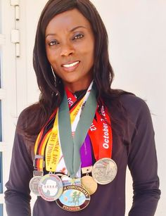 """""""From couch to running marathons on every continent"""" - Next in our series of inspirational runners, we would like you to meet Tuedon (Tee) Morgan who went from tipping the scale at 121kg in 2007 to running marathons around the world (including Antarctica!). This is her story... Black African American, Marathons, Antarctica, Continents, Runners, Scale, Meet, Inspirational, Couch"""