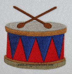 This is a machine embroidery file. Fits the 4 x 4 Hoop Formats include: PES, HUS, JEF, VIP, DST Terms of Use for this are listed in the Terms Section. Image shows what it looks like stitched out Embroidery Files, Machine Embroidery Designs, Drum Instrument, Embroidered Hats, Drums, Stitch, Trending Outfits, Unique Jewelry, Handmade Gifts