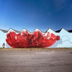 """Exhausting machine"" Our latest painting realized in Vancouver (CA) for @vanmuralfest  #nevercrew #vanmuralfest #vancouver #canada #contemporaryart #streetart #muralart #urbanart #urbanintervention #plasticbottle #polarbear #alert"