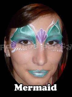 Little Mermaid Face Painting | Mermaid Face Painting Ideas
