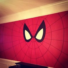 Spider-Man wall for super hero comic book party