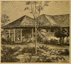 An Illustration of an old Indian Bungalow. Illustrations From India (1876)