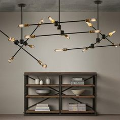 This urbanchandelier offersa perfect blendof industrial and minimalistic styles. Thegraphical linesmake the design versatile to compliment a diverse range of interiors; whether it be a loft, a minimal space, a moody lounge, or a trendycafe.A noteworthy feature unique to this design are circular partsthat allow the arms of the light to rotate a full 360 degrees, a flexibility to arrange to your liking. We do recommend movement onlywhile the fixture is off with caution.Pair it with…