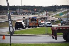 A woman was critically injured Wednesday afternoon after being hit by a vehicle on the access road of Loop 1604.