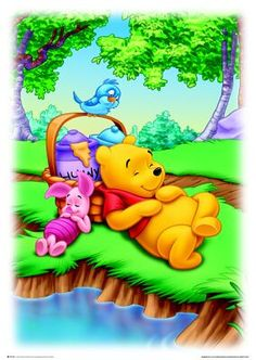 LadyJam - Winnie the Pooh and Piglet - Friends Forever Winnie The Pooh Pictures, Cute Winnie The Pooh, Winnie The Pooh Quotes, Pooh Bear, Tigger, Disney Printables, Kawaii, Day Book, Cartoon Wallpaper