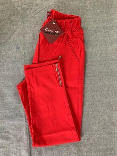 Spodnie z bengaliny Cevlar B04 kolor czerwony - Big Sister