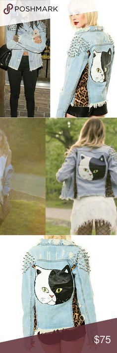 Unif Denim Cat Jacket Unif Denim Cat Jacket  Size XS  Please be aware this is a good and heavy jacket. I only ever wore it once due to this. Second owner, in great condition. UNIF Jackets & Coats