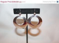 Easter Sale Sterling Hoop Earrings Vintage Drop Dangle by patwatty