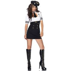 >> Click to Buy << Black And White Female American Office Sailor Uniform Helloween Cosplay Role Play Sexy Police Clothes #Affiliate
