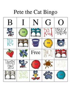 Pete the Cat Bingo