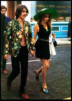 George Harrison with Pattie Boyd, 1967.