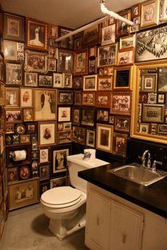 Photographs adore the walls