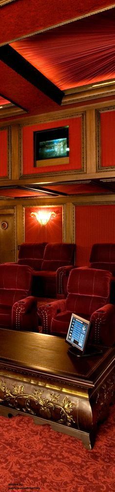 Home Theater Bliss, Entertainment Room, Home Theater, Rooms, Interiors, Entertaining, Elegant, Luxury, Furniture