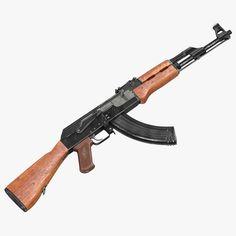 Assault Rifle Ak 47 3D 3Ds - 3D Model