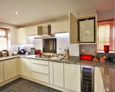 This kitchen has a lot of hidden/integrated appliances, another great hideaway is the boiler cupboard!