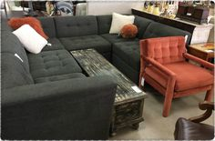 Modifiable sectional...Make into L-shape, U-shape or split into sofa and loveseat! ~Feb 2016