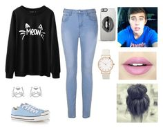"""""""Chillin w/ Nash"""" by im5-love-392 ❤ liked on Polyvore featuring Ally Fashion, Converse, Lipsy and Fiebiger"""