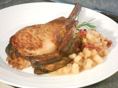 Picture of Rack of Pork with Pear Apple Compote Recipe