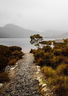 Dove Lake at Cradle Mountain, Tasmania.