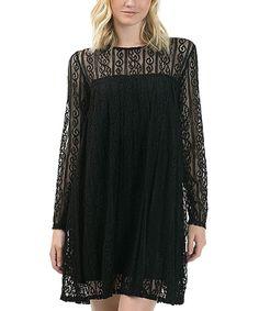 Look at this #zulilyfind! Bow + Arrow Black Lace Shift Dress by Bow + Arrow #zulilyfinds