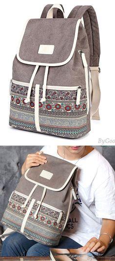 Leisure Folk College Ladies Totem Canvas Bag Student Backpack for big sale! #backpack #bag #school #college #student