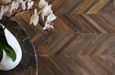 chevron style wood floor....... on my wish list when I get to redo my current wood floors