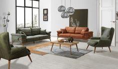inegöl Olivia Koltuk Takımı 3+3+1+1 Sliding Glass Door, Sliding Doors, Recliner, Furniture Design, Couch, Living Room, Chair, Modern, Home Decor