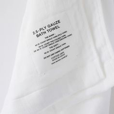 The 2.5 Ply Gauze Towel is a fabric innovation. Through a very unique weaving technique, the middle ply consists only of half the material.