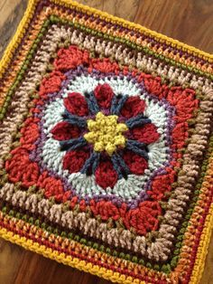 "Tussy-Mussy 12"" square Motif By Rebecca Bisbing - Purchased Crochet Pattern - (ravelry)"