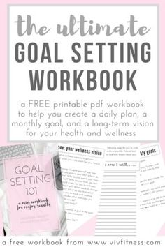 A FREE workbook to help you set goals and improve your health! The ultimate goal setting workbook. Create a plan to improve your health WITHOUT becoming overwhelmed. This is a science-based technique for goal setting that coaches all over the world use! For Your Health, Health And Wellness, Mental Health, Best Self Journal, Nutrition Resources, Goal Setting Worksheet, Goals Planner, Monthly Planner, Planner Ideas