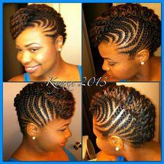 NATURAL HAIR UPDO...cute, cute, cute!!!!!