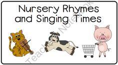 Tot Camp - Nursery Rhymes from LittleAdventuresPreschool on TeachersNotebook.com -  (18 pages)