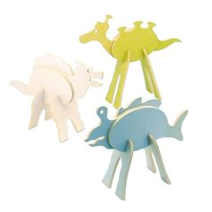 The Mythical Monsters set contains Space Alien, Sea Creature and Snow Beast.  This eco-friendly playset is part 3-D puzzle, part room-decor, and all eco-friendly!