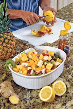 Fresh Fruit Salad Recipes: Ginger-and-Lemon Fruit Salad