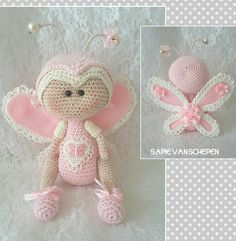 Crochet Bee, Crochet Fairy, Diy Crochet And Knitting, Crochet Angels, Crochet Amigurumi, Crochet Gifts, Amigurumi Patterns, Amigurumi Doll, Crochet For Kids