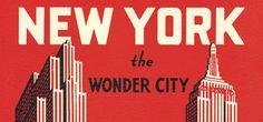 25x Vintage Travel Posters New York