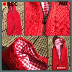 iCrochetstuff: Rode trappelzak met star-stitch patroon, cocoon crochet pattern