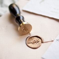 Traditional Wax Seal Stamp with Olive Branch design. Designed by Seniman Calligraphy Seal Size: inch) Wedding Paper, Wedding Cards, Wedding Stationary, Wedding Invitations, Wax Seal Stamp, Stationery Design, Diy Wedding Decorations, Creations, Wedding Details