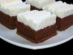 Csokoládékocka habcsókkal, csodás finomság és nagyon könnyen elkészíthető! - Ketkes.com Sweets Recipes, Cooking Recipes, Romanian Food, Hungarian Recipes, Four, Cake Cookies, Cake Decorating, Bakery, Good Food
