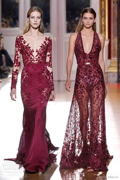 "Zuhair Murad, Fall 2012 --- Wow, the longsleeved dress with the flower ""appliques"" is just stunning."